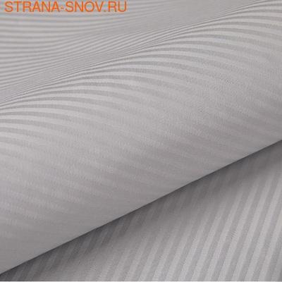 ST-5 SailiD наволочки страйп сатин однотонный 50х70 серые (фото, вид 2)