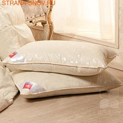 Подушка гусиный пух Камелия Легкие сны 68х68 шампань (фото, вид 1)