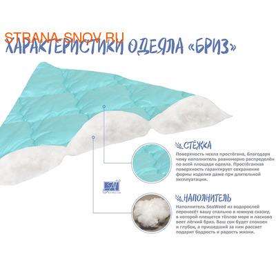 Одеяло морские водоросли БРИЗ легкое 172х205 (фото, вид 2)