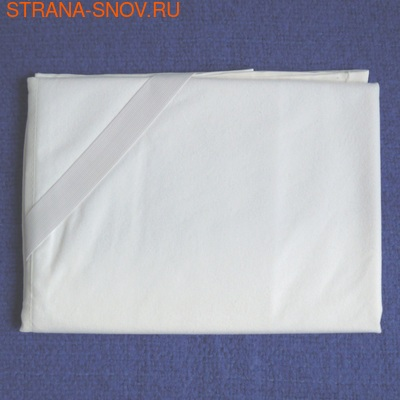 Непромокаемый наматрасник на резинках Велюр Аквастоп 70х200 (фото, вид 1)