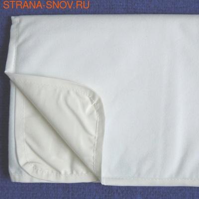 Непромокаемый наматрасник на резинках Велюр Аквастоп 70х200 (фото, вид 2)