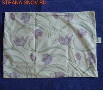 Наперник на подушку хлопок тик 50х70 кремовый Тюльпаны (фото, вид 1)