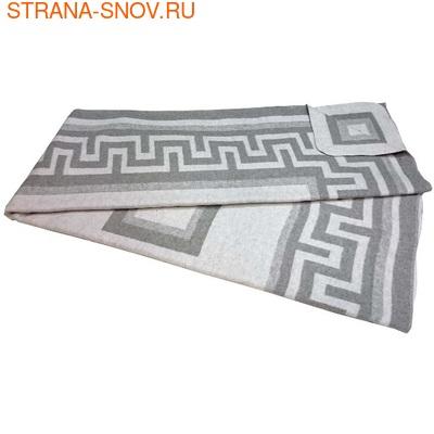 Одеяло байковое ГРЕЦИЯ 140х205 серое (фото, вид 1)
