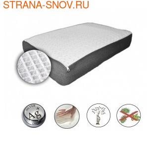 Подушка с серебряными нитями Орто Pure Silver 58х38х9 (фото, вид 1)
