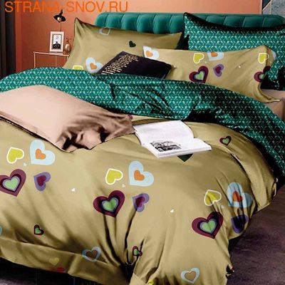FST-05 постельное белье страйп сатин однотонный Семейное (фото)