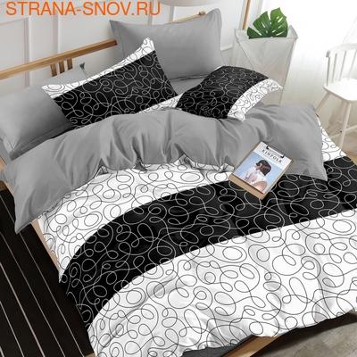 3D-55 постельное белье Бамбук 3D фотопечать Евростандарт