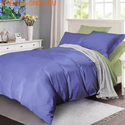 BL-45 SailiD постельное белье хлопок Сатин двухцветный евро (фото)