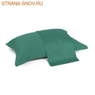 JT5070-281 наволочки сатин однотонный Tango Lifestyle 50х70 сине-зеленые