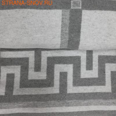 Одеяло байковое ГРЕЦИЯ 140х205 серое (фото)