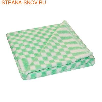 Одеяло детское байковое 100х140 зеленое