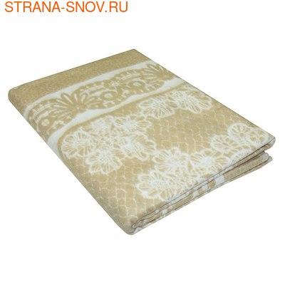 Одеяло байковое Кружево 150х215 бежевое (фото)