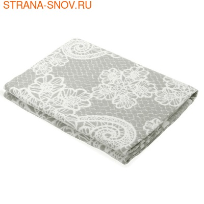 Одеяло байковое Кружево 150х215 серое