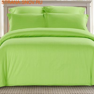 CST01-10 постельное белье страйп сатин однотонный 1,5-спальное (фото)