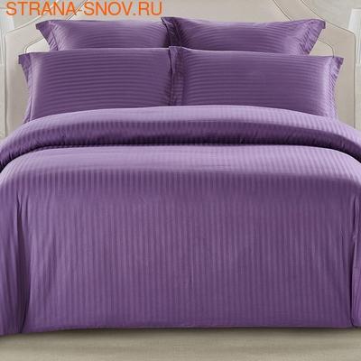 CST01-14 постельное белье страйп сатин однотонный 1,5-спальное (фото)