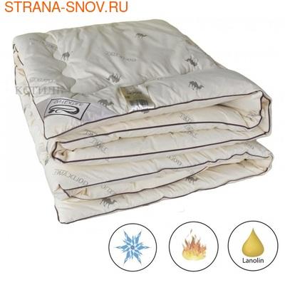 Одеяло верблюжья шерсть Сахара Люкс классическое 140х205 (фото)