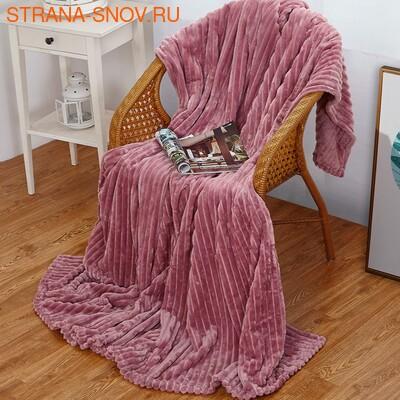 Одеяло байковое жаккардовое Премиум 100х140 Фламинго Сердечки