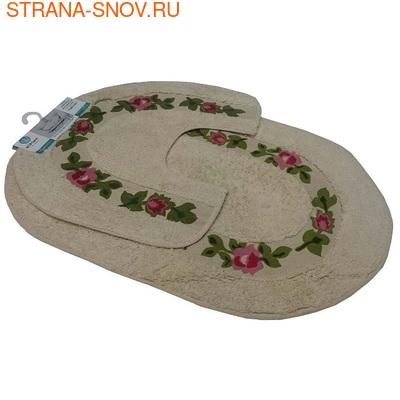 Комплект ковриков для ванной Коронатекс Цветы