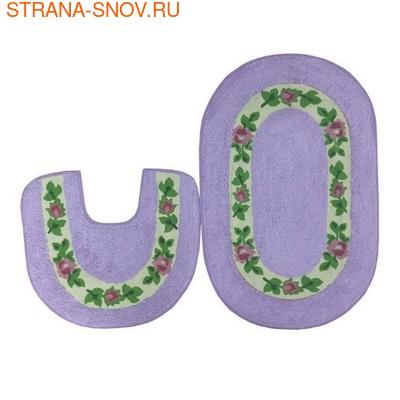 Комплект ковриков для ванной Коронатекс Цветы лаванда