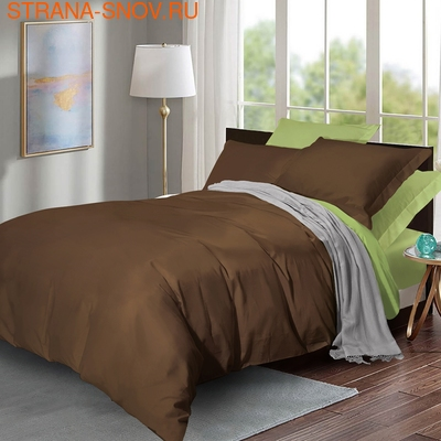 632 Экзотика постельное белье хлопок Поплин 1,5-спальное (фото)