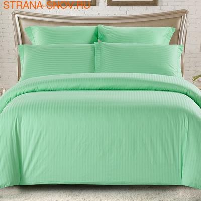 CST04-01 Tango постельное белье страйп сатин однотонный евро (фото)