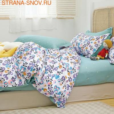Постельное белье сатин в детскую кроватку КУБИКИ (фото)