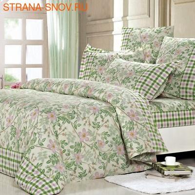 Постельное белье поплин в детскую кроватку ЗООПАРК зеленое (фото)