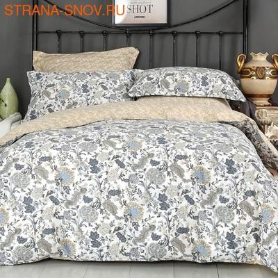 Одеяло байковое Кружево 150х215 серо-голубое