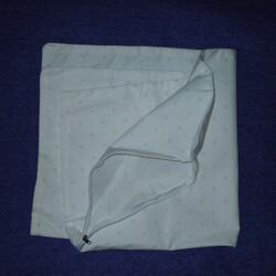 Наперник на подушку хлопок тик 50х70 белый Silver