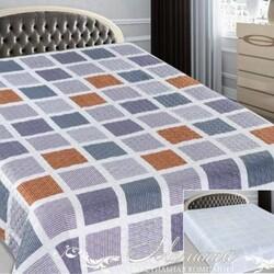 Одеяло байковое детское КВАДРАТ 100х140 голубое