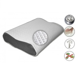 Подушка с серебряными нитями Орто Smart Silver 53х32х(14+10)