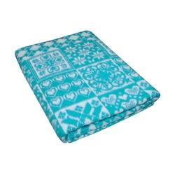Одеяло байковое УЮТ 150х215 морская волна