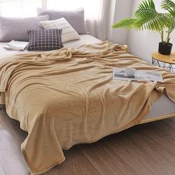 Одеяло байковое премиум ОРНАМЕНТ 150х212 кофейное