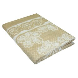 Одеяло байковое Кружево 150х215 бежевое