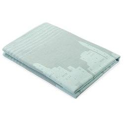 Одеяло байковое Мегаполис 150х215 серо-голубое