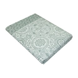 Одеяло байковое Ажур 150х215 темно-серое