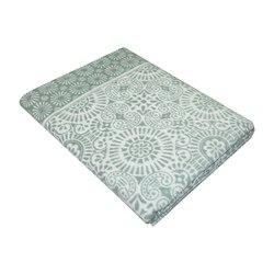 Одеяло байковое хлопковое Ажур 150х215 темно-серое