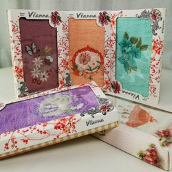 8436 Полотенце махровое хлопок Vianna 3D Cotton 50х90