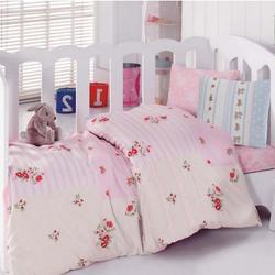 1041-04 постельное белье Ранфорс кружево Cotton Box Ясли
