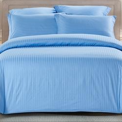 CST01-04 постельное белье страйп сатин однотонный 1,5-спальное