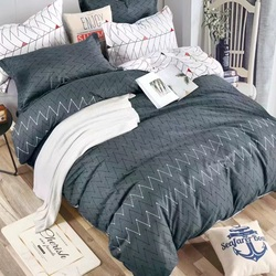 TJ06-33 Cristelle Blue marine постельное белье жаккард кружево евро