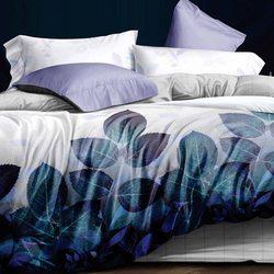 TJ06-28 Cristelle Blue marine постельное белье жаккард кружево евро