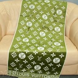LV-01 Полотенце пляжное бамбук жаккард 70х140 зеленое