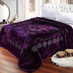Одеяло шерстяное жаккардовое ГРЕЦИЯ 170х210 терракотовое