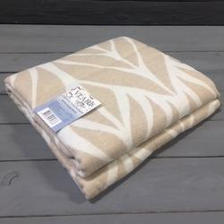 Одеяло байковое ЛИСТЬЯ 140х205 бежевое