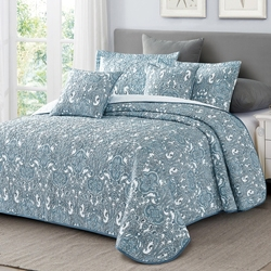 Одеяло байковое хлопок жаккард премиум Маргаритка 150х212 вечер