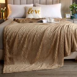 Одеяло шерстяное жаккардовое ГРЕЦИЯ 140х205 терракотовое