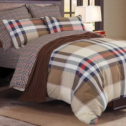 Постельное белье поплин в детскую кроватку РОМАШКИ бежевое