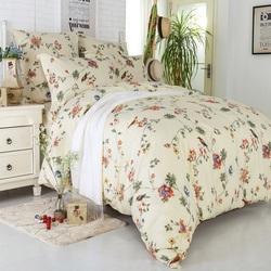 Постельное белье поплин в детскую кроватку РОМАШКИ голубое