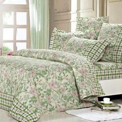Постельное белье поплин в детскую кроватку ЗООПАРК зеленое